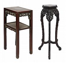 TWO LATE 19TH EARLY 20TH CENTURY CHINESE STANDS