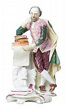 AN EARLY DERBY FIGURE OF SHAKESPEARE, CIRCA 1780