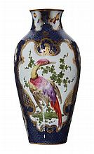 A FRENCH LATE 19TH CENTURY PORCELAIN VASE IN THE WORCESTER STYLE, CIRCA 1885