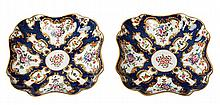 A PAIR OF WORCESTER DR WALL PORCELAIN DISHES, CIRCA 1770-1780