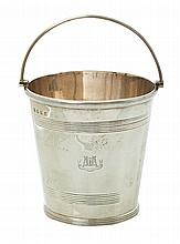 A VICTORIAN SILVER ICE BUCKET BY ROBERT AND WILLIAM SORLEY, GLASGOW 1899