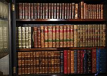 A COLLECTION OF 19TH CENTURY AND LATER LEATHER BOUND BOOKS
