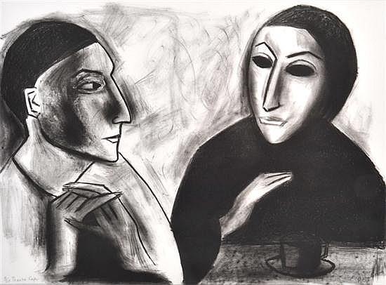 ROBERT DICKERSON (BORN 1924) Theatre Cafe 1999 lithograph 7/30
