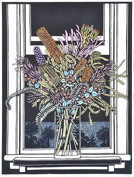DAVID PRESTON (BORN 1948) Wildflowers 1988 linocut 28/50