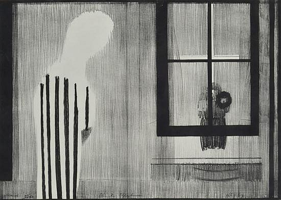 CHARLES BLACKMAN (BORN 1928) Interior 1966-67 lithograph 95/100
