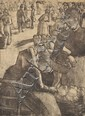 after CAMILLE PISSARRO (FRENCH, 1831-1903) Marché aux Legumes, à Pontoise 1891/1923 etching and drypoint (posthumous edition)