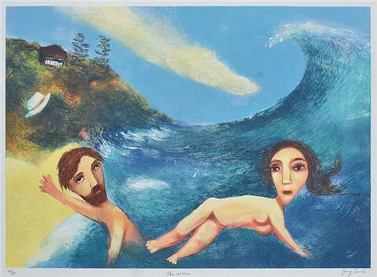 GARRY SHEAD (BORN 1942) The Wave collograph 44/80