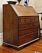 A GEORGE III OAK DROP FRONT BUREAU