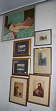SEVEN FRAMED PICTURES