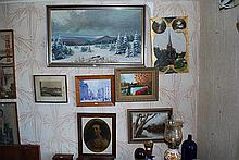 A QUANTITY OF SEVEN FRAMED PAINTINGS