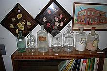SEVEN GLASS CHEMIST JARS