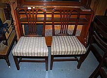 A PAIR OF GEORGE III OAK DINING CHAIRS