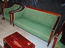 A THREE PIECE EDWARDIAN LOUNGE SUITE
