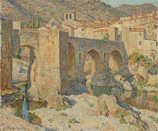 Robert Richmond Campbell (1902-1972) Besalu, Spain oil on canvas