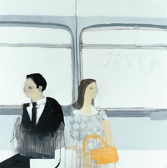 Anthony Lister (born 1980) In Transit #11 2006 mixed media on canvas