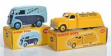 TWO DINKY COMMERCIALS INCLUDING 443 TANKER 'NATIONAL BENZOLE'; AND 465 MORRIS VAN 'CAPSTAN' (VG-E BOXES G-E) (2)