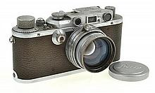 LEICA III NO. 1333485 (1934) WITH SUMMITAR 2.0 LENS, LENS CAP AND ER CASE, CONDITION: 5
