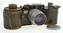 LEICA REPORTER 250 NO 137014 (1934) WITH SUMMITAR 1.5 50MM LENS (1957), SPARE MAGAZINE, LENS CAP IN WORN CONDITION ENGRAVED 'D DILSO..