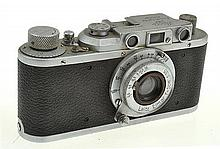 LEICA II NO. 326000 (1937) WITH ELMAR 3.5 LENS AND ER CASE, CONDITION: 5