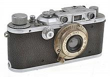 LEICA IIIA NO. 299268 (1938) FACTORY CONVERTED FOR FLASH WITH ER CASE, CONDITION: 5