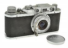 LEICA II NO. 327146 (1939) WITH ELMAR 3.5 LENS AND ER CASE, CONDITION: 5