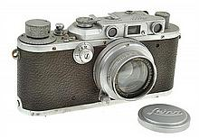 LEICA III NO. 268555 (1938) WITH ELMAR 3.5, LENS CAP AND ER CASE CONDITION: 5