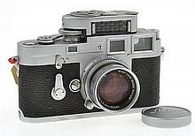 LEICA M3 SINGLE STROKE NO. 731785 (1955) WITH SUMMICRON 2.0 NO. 1105296 LENS(1953), LEICAMETER MC, INSTRUCTIONS AND LENS CAP, CONDIT...