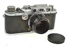 LEICA III NO. 251428 (1937) WITH ELMAR 3.5 LENS, ER CASE AND SUNSHADE, CONDITION: 5 (CASE SHOWING SIGNS OF WEAR)