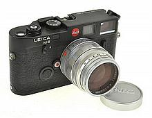 LEICA M6 NO. 116744912 WITH SUMMILUX 1.4 LENS NO. 1640993, LENS CAP, INSTRUCTIONS, UV FILTER AND ER CASE, CONDITION: 3 (CASE SHOWING...