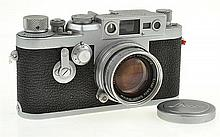 LEICA IIIG NO. 890544 (1957) WITH SUMMICRON 2.0 NO. 1092824, LENS CAP AND ER CASE, CONDITION: 5 (CASE SHOWING SIGNS OF WEAR)