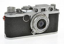 LEICA IIF NO. 651990 (1953) WITH ELMAR 3.5 LENS AND LENS CAP, CONDITION: 5