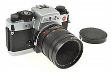 LEICA R7 NO. 2065375 WITH MACRO ELMARIT R 2.8 60MM LENS, LENS CAP AND INSTRUCTIONS, CONDITION: 7