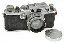 LEICA IIIC NO. 366937 (1940) WITH SUMMITAR 2.0 NO. 575229 LENS (1939), CONDITION: 7 (SHUTTER STICKING)