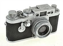 LEICA IIIG NO. 869523 (1957) WITH ELMAR 2.8 AND ER CASE, CONDITION: 4 (CASE HEAVILY USED)