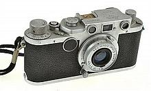 LEICA IIC NO. 448040 (1950) WITH ELMAR 3.5 LENS AND ER CASE, CONDITION: 6