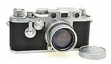 LEICA III NO. 793681 WITH 2.0 50MM LENS NO. 1281716, SELF TIMER, LENS CAP, ER CASE AND USER MANUAL, CONDITION: 5 (CASE SHOWING SIGNS...