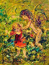 DAVID BOYD, (1924-2011) CHILDREN IN A FOREST, 1972