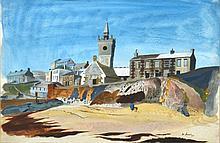 LEONARD LLOYD (LEN) ANNOIS, (1906-1966) SEASIDE VILLAGE