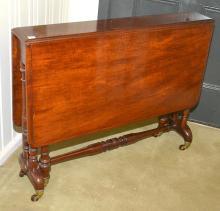 A VICTORIAN MAHOGANY SUTHERLAND TABLE, 100 X 71 X 91 CM