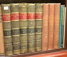 A PART SHELF OF ART REFERENCES INCLUDING THREE VOLUMES THE WORLD'S GREATEST PAINTINGS, 5 VOLUMES MAGAZINE OF ART, THREE VOLUMES THE ..