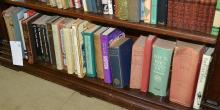 A SHELF OF REFERENCES ON ENGLISH LITERATURE AND GENEALOGY INCLUDING DEBRETT'S 1956