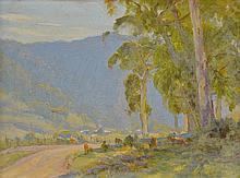 WILLIAM ROWELL, (1898-1946) GRAZING CATTLE
