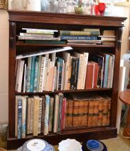 A WILLIAM IV MAHOGANY OPEN BOOKCASE, WITH THREE SHELVES, 106.5 X 120 X 35 CM