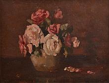 ALBERT ERNEST NEWBURY, (1891-1941) STILL LIFE WITH ROSES