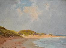 ALBERT ERNEST NEWBURY, (1891-1941) BEACH SCENE