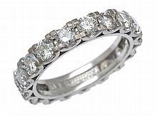 A FULL CIRCLE DIAMOND ETERNITY RING