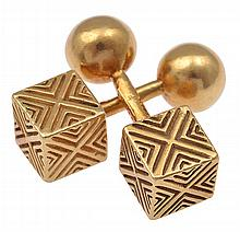 A PAIR OF VINTAGE CUFFLINKS BY TIFFANY & CO.