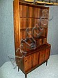 A DANISH ROSEWOOD BOOKCASE CABINET