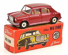TEKNO 832 MG 1100, MAROON, BOX MISSING 1 X END FLAP (E-M BOX G)