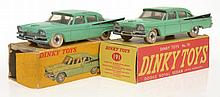 2 X DINKY 191 DODGE ROYAL SEDANS